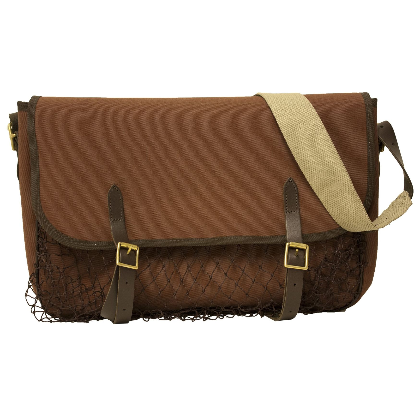 Bisley Canvas Game Bag Leather And Brass Fittings Shooting