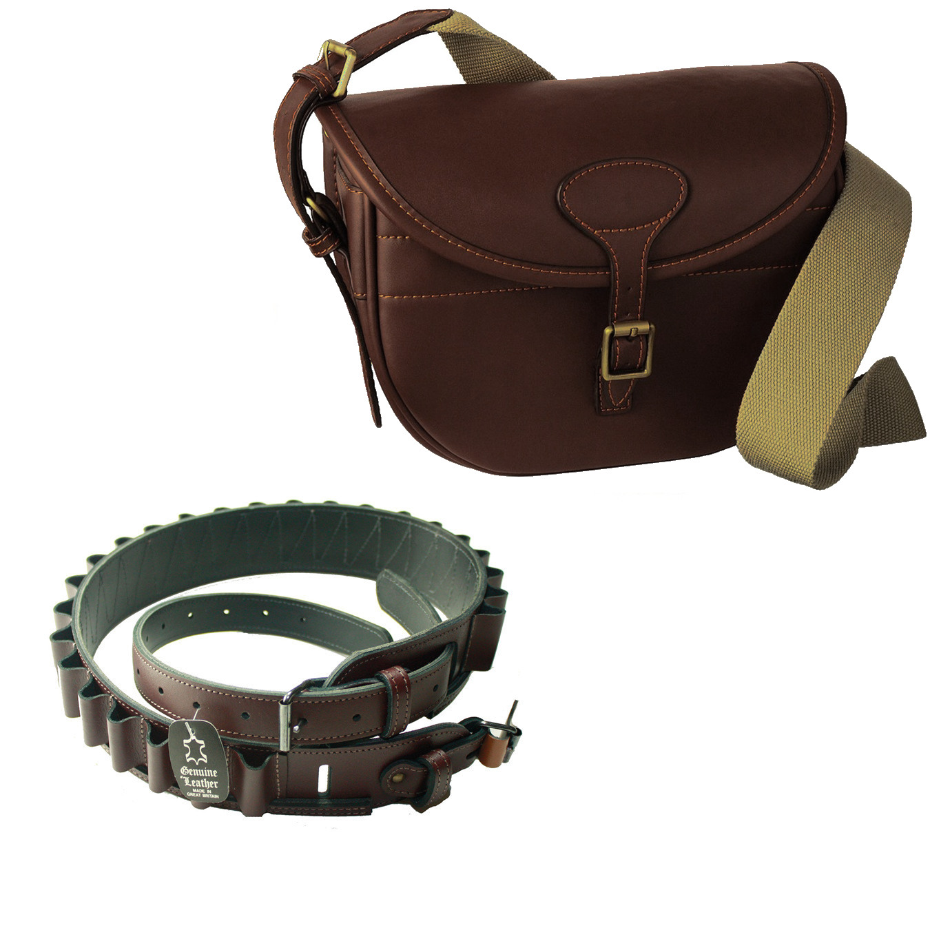 Guardian Heritage Cartridge bag and belt kit 12G or 20G canvas and ...
