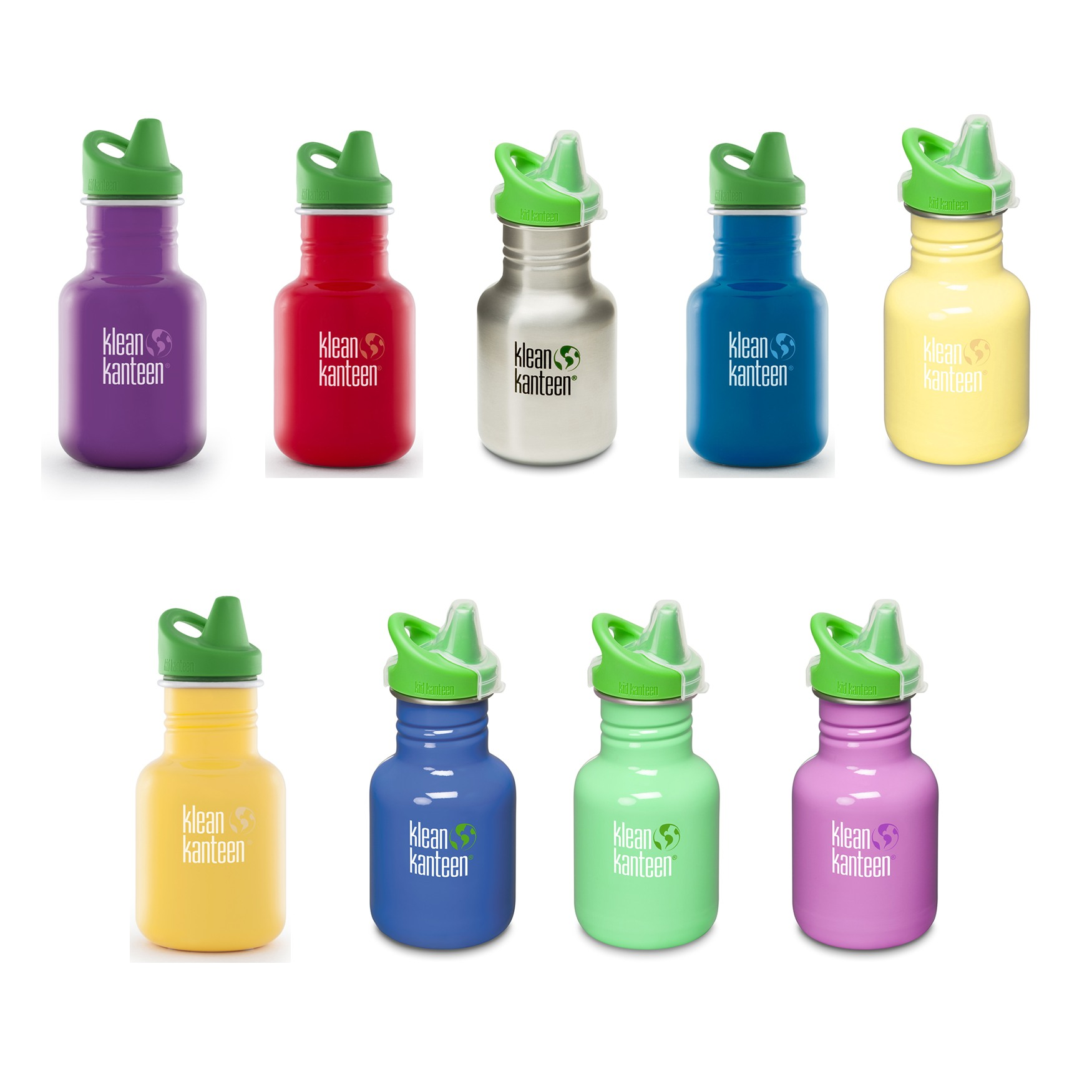 Klean Kanteen Sippy Cap Stainless Steel Kid Drinks Bottle