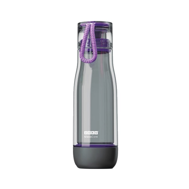 Zoku Active Sports Bottle Shock Proof Suspended Glass Core