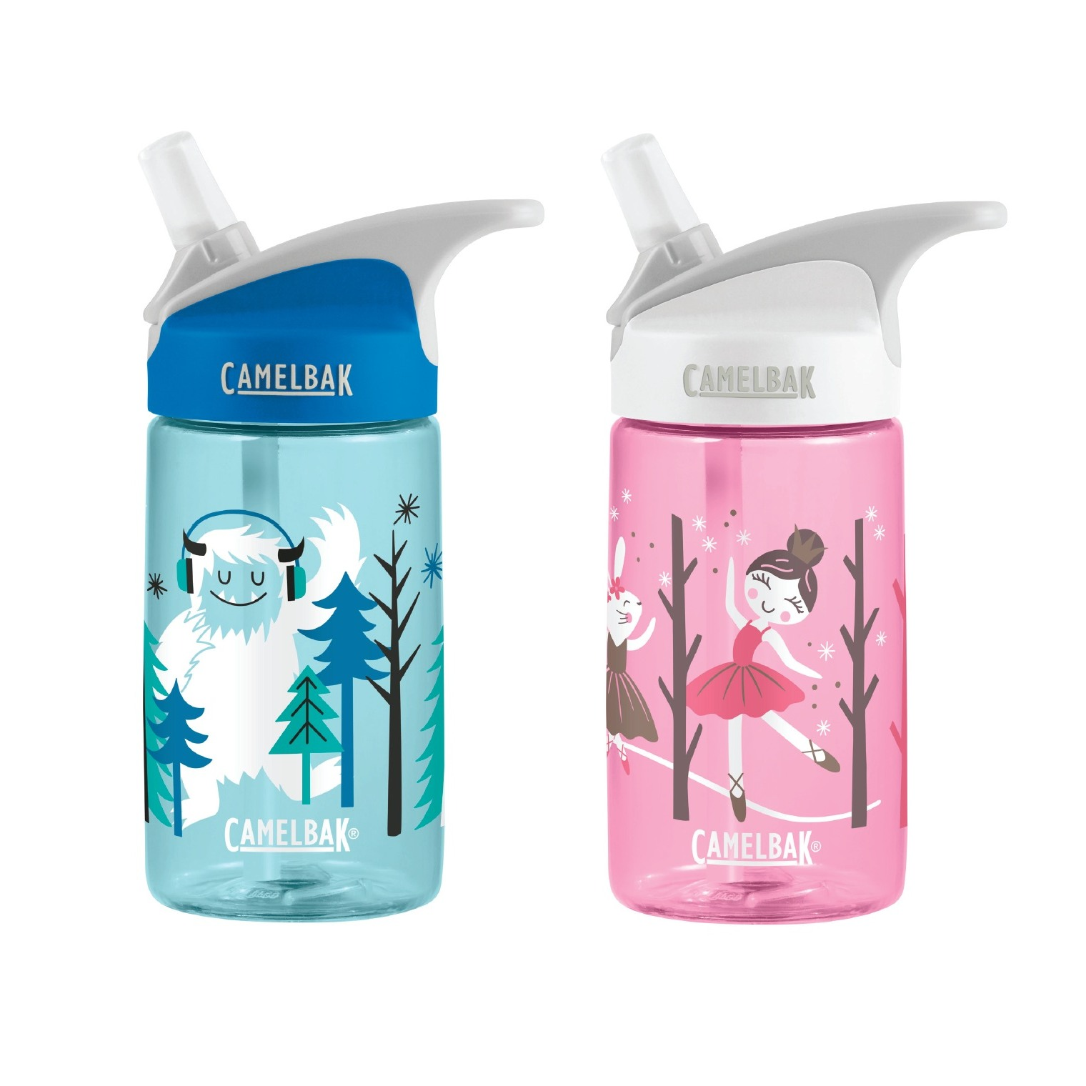 Limited Winter edition Camelbak Eddy Kids 400ml//12oz spill proof water bottle