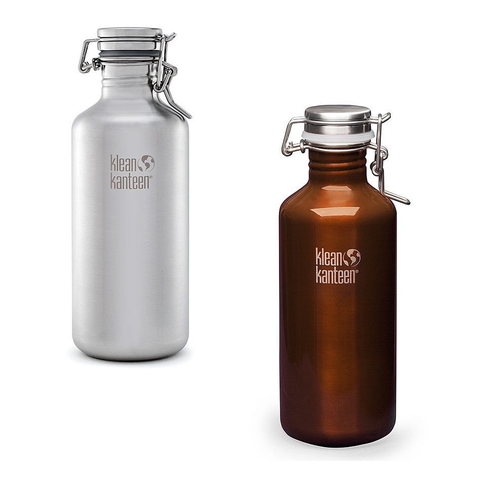 Klean Kanteen 64 Ounce Stainless Steel Insulated Growler with Swing Lok Cap